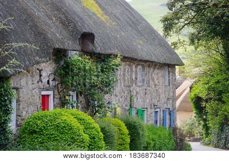 Row of Dorset cottages southern england uk