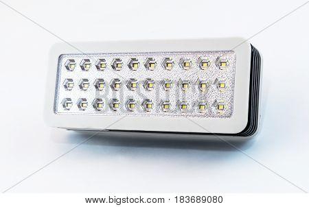 Rectangular Flashlight With Plastic Body And 30 Led Bulbs