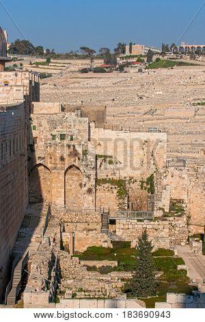 Spring views of the holy city Jerusalem