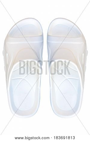 white color sandal isolate and white background