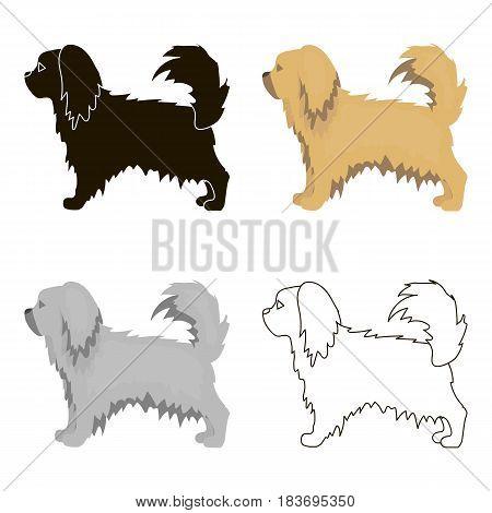 Pekingese vector illustration icon in cartoon design