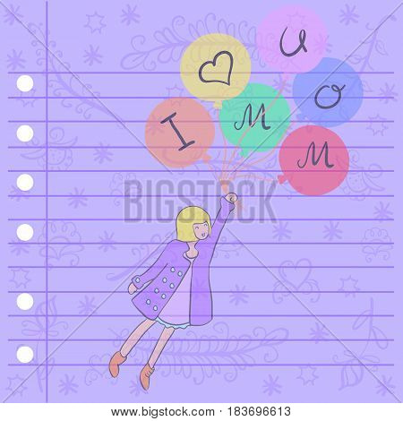 Mother day greeting card desisgn style collection stock