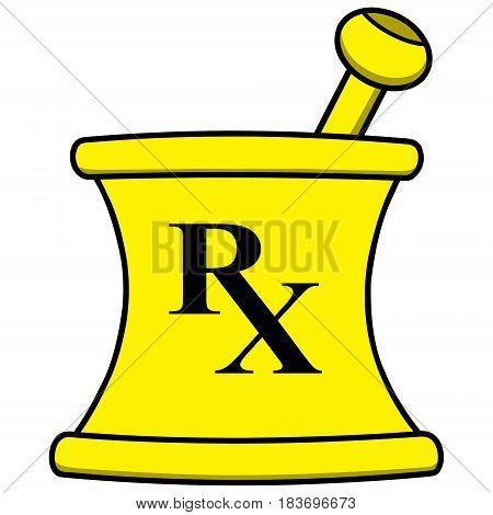A vector illustration of a Pharmacy Mortar.