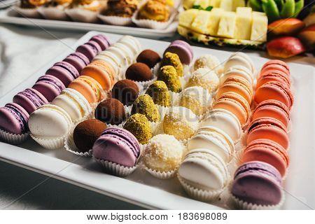 Colorful Macarons Cake, Top View
