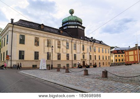 UPPSALA, SWEDEN - JULY 7, 2016: Gustavianum is a former university building from the XVII century it is now a university museum.