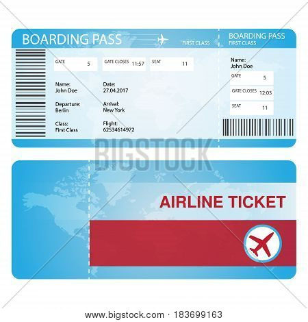Airline ticket concept mock for any uses.