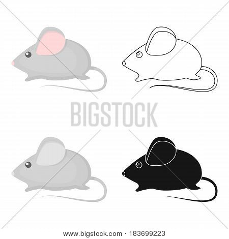 House mouse icon in cartoon style isolated on white background. Cat symbol vector illustration.