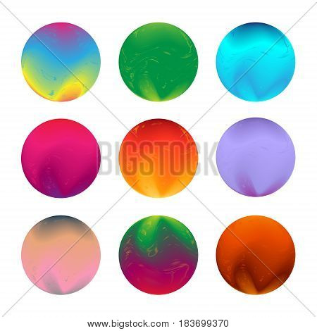 Set of round colorful vector shapes. Abstract vector banners template. Design elements. Rainbow colors
