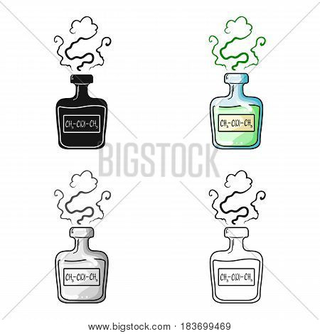 A vial of green potion.Medicines for diabetics.Diabetes single icon in cartoon style vector symbol stock web illustration.