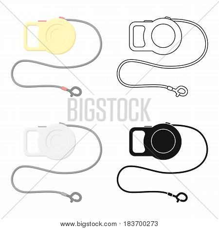 Pet lead icon in cartoon style isolated on white background. Cat symbol vector illustration.