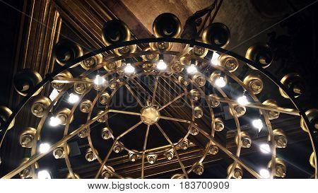 Ceiling lamp, vintage pendant in historic building