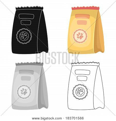 Animal feed package.Pet shop single icon in cartoon style vector symbol stock illustration .