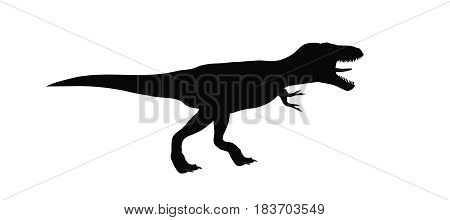 3d illustration of a dinosaur sihouette isolated on white background