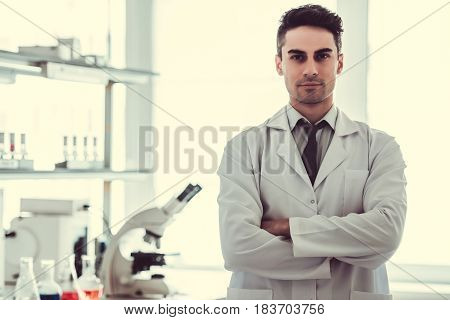 Handsome Doctor In Laboratory