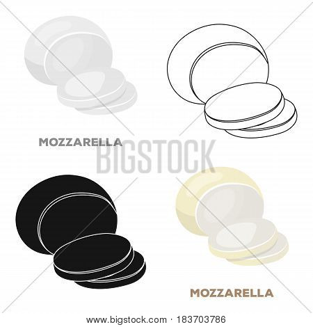 Mozzarella.Different kinds of cheese single icon in cartoon style vector symbol stock illustration .