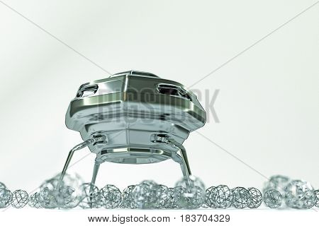 3d illustration of an unidentified flying object isolated on white background