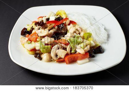 Chicken Szechuan. Asian Food. Asian Cuisine.