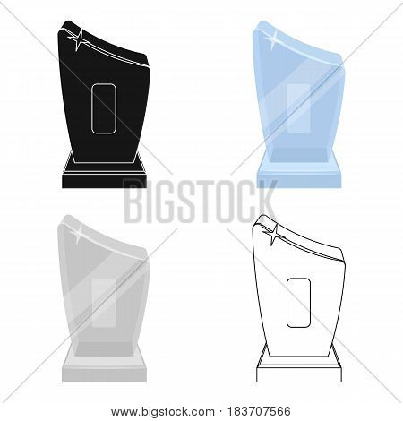 Shiny grey award.The prize for the best performance of a poem.Awards and trophies single icon in cartoon style vector symbol stock web illustration.