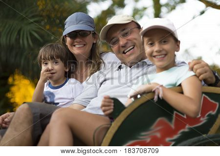 Lovely Family Enjoying