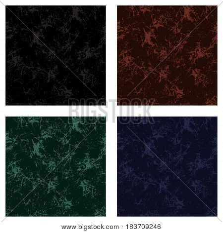 Set Of Seamless Vector Textures. Grunge Background With Attrition, Cracks And Ambrosia. Old Style Vi