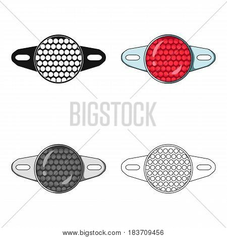 Reflector for cyclists. Icon for better visibility on the road.Cyclist outfit single icon in cartoon style vector symbol stock web illustration.