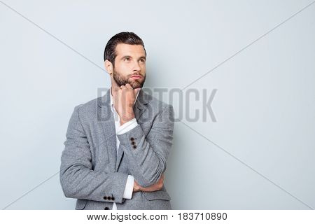 Minded Handsome Young Man Planning How To Launch A New Project