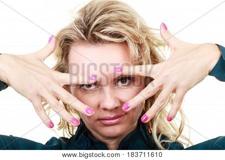 Attractive Blonde Woman Portrait
