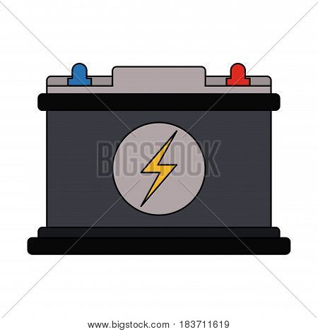 color graphic car battery icon vector illustration