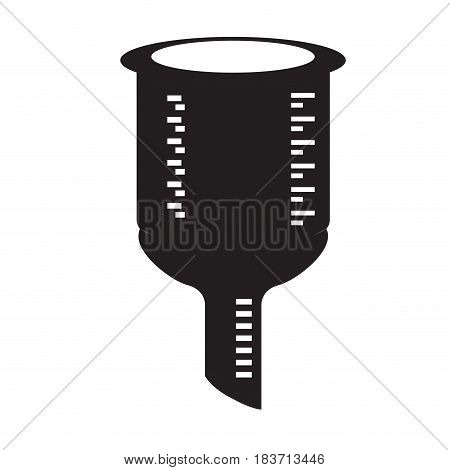 Isolated silhouette of a funnel, Vector illustration