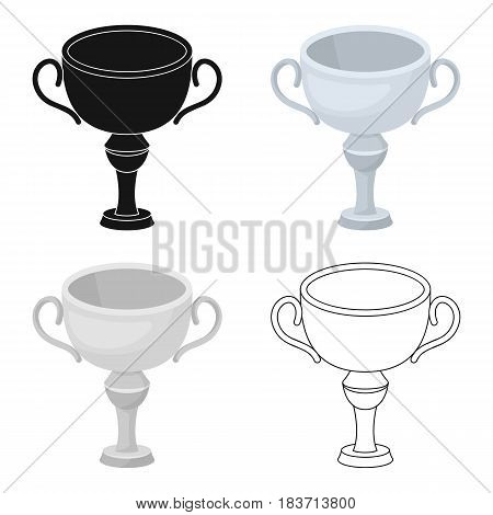 Silver award winner of the competition.The Cup for second place.Awards and trophies single icon in cartoon style vector symbol stock web illustration.
