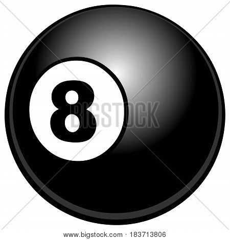 A vector illustration of a eight ball.