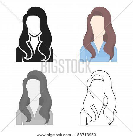 Woman icon cartoon. Single avatar, peaople icon from the big avatar cartoon.