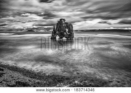 Hvitserkur rock is a landmark in Iceland