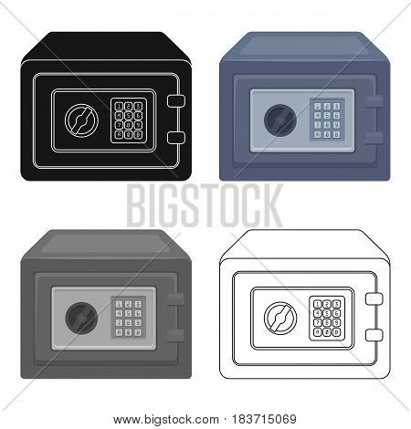 Realistic Steel safeSafe under combination lock. Metal box is hard to open.Detective single icon in cartoon style vector symbol stock web illustration.