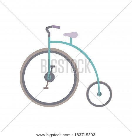 white background with penny farthing vector illustration