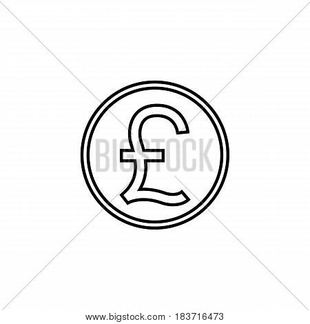 Pound sterling coin line icon, finance and business, Pound sign vector graphics, a linear pattern on a white background, eps 10.