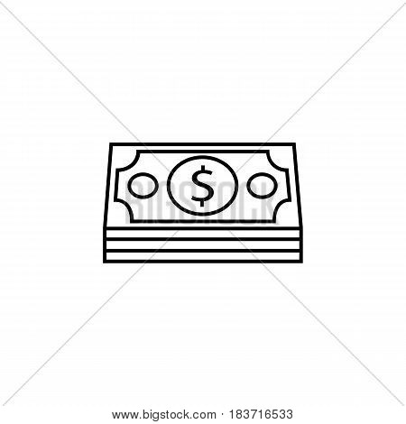 Bundle of money coin line icon, finance and business, dollars sign vector graphics, a linear pattern on a white background, eps 10.