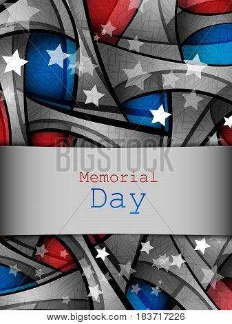 Memorial day vector design . Holidays background. Colorful elements, template for greeting cards. Eps10