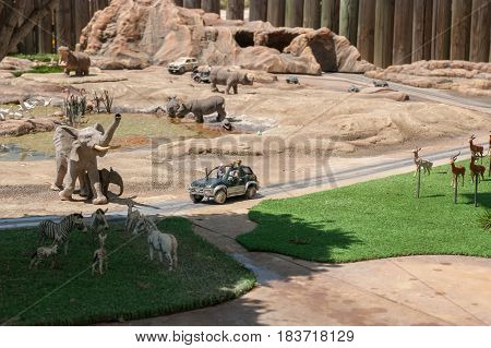 Miniature Of Ramat Gan Safari Zoo, At Mini Israel - A Miniature Park Located Near Latrun