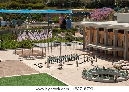 Miniature Of The Knesset Square (knesset Is Parliament Of Israel), At Mini Israel - A Miniature Park