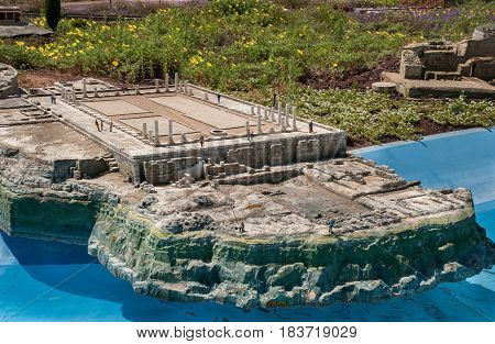 Miniature Of  Ancient Ruins Of  Byzantine House In Caesarea, At Mini Israel - A Miniature Park Locat