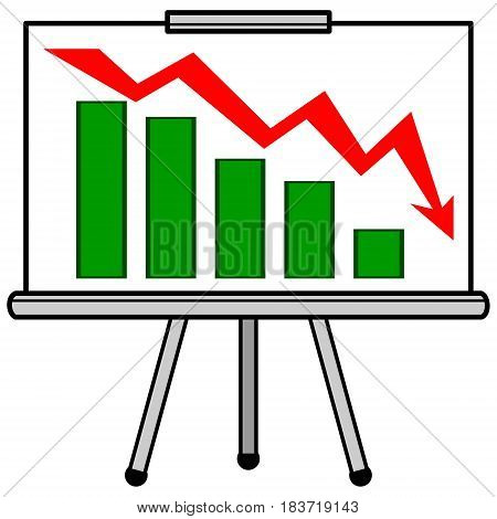 A vector illustration of a Business Profit Whiteboard.