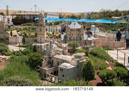 Miniature Of King David Tomb At Mount Zion, Jerusalem, At Mini Israel - A Miniature Park Located Nea