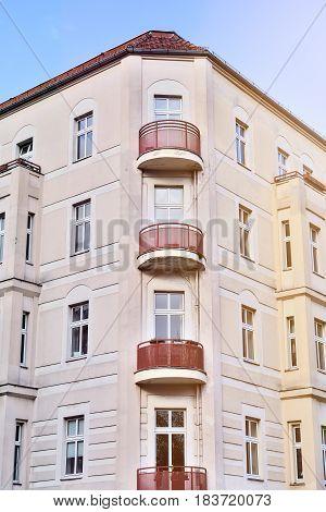 Corner House, Beautiful Old Building In Berlin Kreuzberg