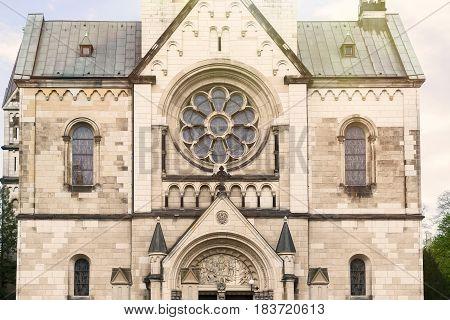 Facade Of An Old Church In Berlin Kreuzberg