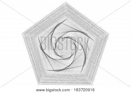 pentagram , Abstract geometric shapes ,  vector ,