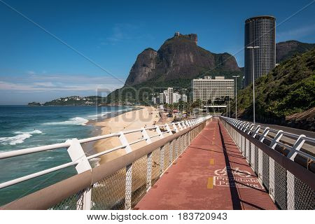 Cycling Path With Beautiful View in Rio de Janeiro, Brazil