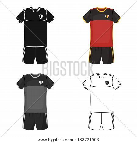 Form of the Belgian football team.The dark Belgian wolf. Belgium single icon in cartoon style vector symbol stock web illustration.