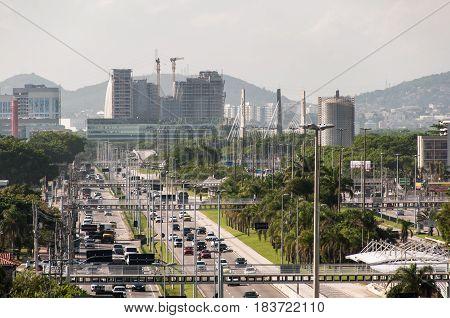 Ayrton Senna Avenue in Barra da Tijuca, Rio de Janeiro, Brazil