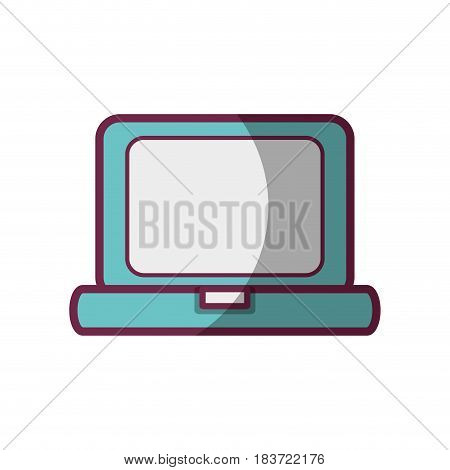 laptop technology and business information icon, vector illustration